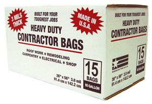 55 Gal Contractor Trash Bags (15/CT)