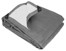 Gray/White Heavy Duty Tarp